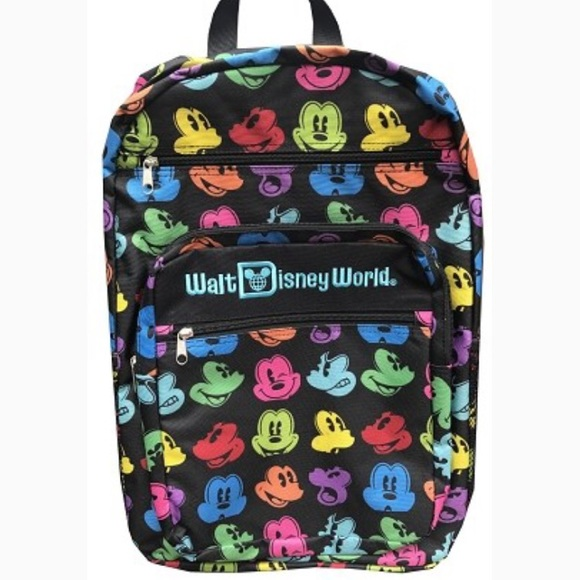 cb3c35efd2a Disney World Multi Color Mickey Mouse Backpack